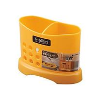 Ống cắm đũa thìa 2 ngăn màu cam Felling nội địa Nhật Bản