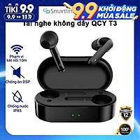 Tai nghe True Wireless QCY T3 Bluetooth 5.0 (Màu đen) - Hàng chính hãng