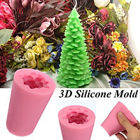 3D Christmas Tree Mould Handmade Candle / Soap / Chocolate Fondant Mold Silicone