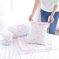Bộ 5 túi giặt đồ lót, tất, bảo vệ quần áo họa tiết đẹp Realt JKQ-910