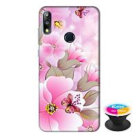 Ốp lưng điện thoại Asus Zenfone Max Pro M2 hình Hoa Hồng Và Bướm  tặng kèm giá đỡ điện thoại iCase xinh xắn - Hàng chính hãng