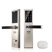 Khóa cửa điện tử VICKINI 39888.002 MSN. Mở bằng vân tay,  mật mã, thẻ từ, chìa cơ, app. Hàng chính hãng
