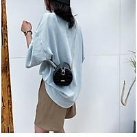 Túi đeo vai dáng tròn nhỏ màu trơn sành điệu trẻ trung cho nữ