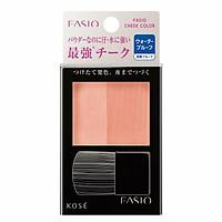 Phấn má hồng Kosé Fasio Water Proof Cheek chống thấm nước nội địa Nhật Bản + Tặng Cafe Dừa Macca