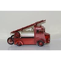 Mô hình xe cứu hỏa kim loại trưng bày/ Metal fire truck Handmade Decoration (1904D-1656)