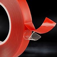 Băng Keo Dán 2 Mặt Trong Suốt Siêu Dính 12mm x 3m