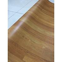 Thảm nhựa trải sàn simili giả gỗ màu gỗ nâu  - bề mặt nhám rõ vân gỗ