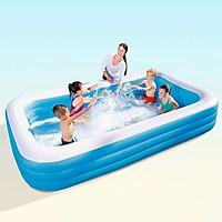 Bể bơi 2m90 siêu to khổng lồ cho 5 bé tập bơi