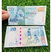 Tiền Hồng Kông 20 Dollar ngân hàng HSBC, cảnh ngày Trung Thu, mới 100%, tặng túi nilon bảo quản
