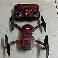 Skin Decal Dán Trang Trí Flycam Mavic Mini 2 - Full Body - Chấm Bi Đỏ