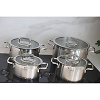Bộ nồi inox 4 món Cookever
