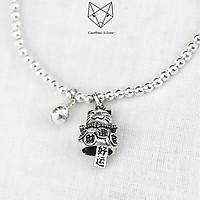 Vòng Tay Bạc S99 CaoBac Silver Bi Charm Mèo Thần Tài May Mắn