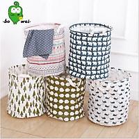Giỏ đựng đồ - vải bố chống ẩm THỦY BÔNG giúp chị em chưa cả thế giới như đồ trong nhà
