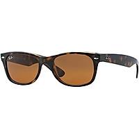 Ray Ban RB2132 NEW WAYFARER 901-58 58M Black/Crystal Green Polarized Sunglasses For Men For Women