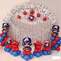 Set bóng trang trí thôi nôi, trang trí sinh nhật siêu nhân cho bé trai