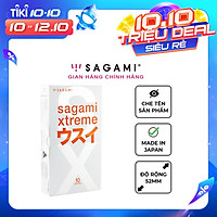 Bao cao su Sagami Superthin - Mỏng - Kiểu truyền thống - Hộp 10 chiếc