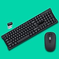 Bộ bàn phím chuột không dây văn phòng giúp giảm thiểu tiếng ồn khi gõ kết nối thông qua cổng USB 2.0 thông dụng hiện nay chính hãng ILEPO M6
