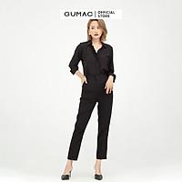 Áo sơ mi nữ thiết kế cơ bản kết hợp tay dài phối măng sết GUMAC AB577