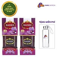 Nhụy Hoa Nghệ Tây Chính Ngạch Saffron Badiee Combo 2 hộp 1gram/hộp Tặng bình nước 300ml
