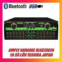 Ampli Bluetooth Karaoke ATANNOII AR-6800 - Amply 16 sò công suất lớn - Hai quạt gió - Hàng chính hãng