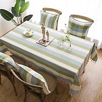 Khăn trải bàn sọc vải bố