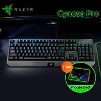 Bàn phím màng backlit chơi game có dây Razer Cynosa Pro-chính hãng
