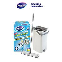 Cây lau nhà 3 lần vắt kèm thùng 2 ngăn xoay 360 độ lau sạch nhanh vệ sinh dễ dàng MyJae Đài Loan