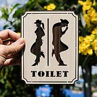 Tranh gỗ treo tường_Bảng toilet, phòng vệ sinh,WC F05_CRN_01