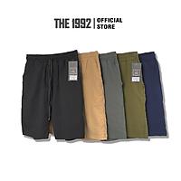 Quần đùi nam THE 1992 vải đũi Quần short nam LINEN
