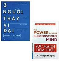 Combo 2 cuốn sách kỹ năng dành cho bạn: Sức Mạnh Tiềm Thức ( tái bản 2021) + Ba Người Thầy Vĩ Đại ( Tặng kèm bookmark)