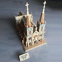 Đồ chơi lắp ráp gỗ 3D Mô hình Nhà Thờ Đức Bà G-P257