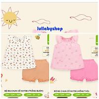 Bộ cộc tay bé gái Lullaby NH73B, bộ quần áo cotton cao cấp