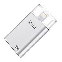 Ổ Cứng Di Động Mili IDATA 32GB USB 3.0 (Bạc) - Hàng Chính Hãng