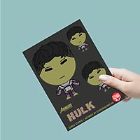 Single sticker hình dán siêu anh hùng - Khổng Lồ Xanh
