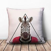 Gối Ôm Vuông Ngựa Vằn Mặc Áo Đỏ GVAA198 (36 x 36 cm)