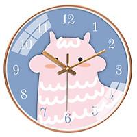 Đồng hồ treo tường tròn chú cừu màu hồng 30cm