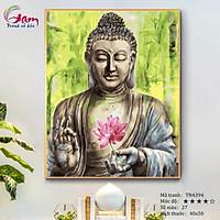 Tranh tô màu theo số về Phật và hoa Sen GAM TN4394