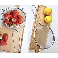 Combo 02 vợt inox trần bún, phở dùng cho quán ăn, nhà hàng  Echo φ15cm hàng nhập khẩu Nhật Bản tặng Set 03 miếng mút rửa chén bát Ohe 53374#