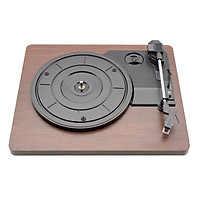 Shenzhen factory multifunctional PVC flat wooden box player phonograph phonograph old-fashioned vinyl record player