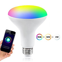 9w Smart LED Light Bulb RGBCW WiFi Voice Control Dimmable Wi-Fi RGB Color Group Control