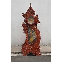 Đồng hồ cây gỗ hương 1m09 hoa văn chân mẫu DH 01