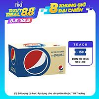 Thùng 24 Chai Nước Ngọt Có Gas Pepsi (390ml / Chai)