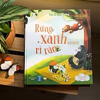 Truyện Kể Trước Giờ Đi Ngủ - Cuốn Rừng Xanh Rì Rào - Sách Bìa Cứng Cho Bé 0-3 4-5-6 tuổi