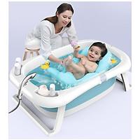 Thau tắm, bồn tắm, chậu tắm cho bé gấp gọn kèm cảm biến nhiệt độ theo thời gian thực