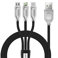 Dây Cáp Sạc Lightning Cho iPhone/USB Type-C/MicroUSB Earldom ET-IMC012 (1.2m) - Hàng Nhập Khẩu