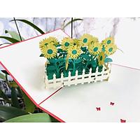 Thiệp 3D - Vườn hoa hướng dương khoe sắc - D30
