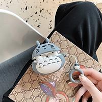 Hộp bảo vệ dành cho Airpods Pro Case Totoro mặt ngơ kèm móc treo