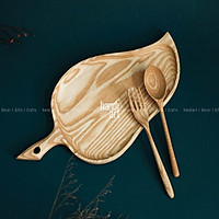Khay gỗ chiếc lá - khay gỗ decor - Wooden tray