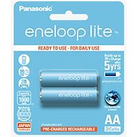 Pin sạc eneloop LITE AA 1000mAh (BK-3LCCE/2BV) Hàng chính hãng