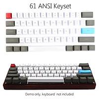 61 Key ANSI Layout OEM Profile PBT Thick Keycaps for 60% Mechanical Keyboard